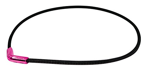 Phiten X50 Titanium V-Edge Necklace, Metallic Pink, 20