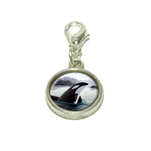 Pendant Charm Dangling (Orca Killer Whale Dangling Bracelet Pendant Charm)