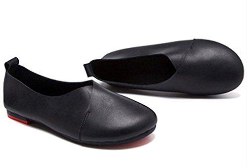 Kunsto Kvinna Äkta Läder Komfort Handske Skor Balett Platt (upp Till 55% Rabatt) Svart