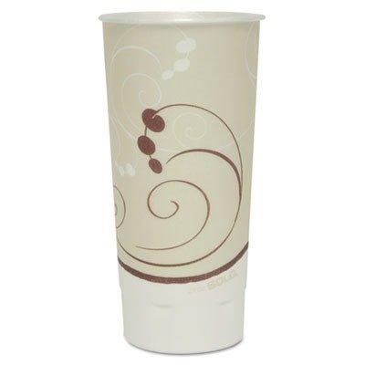 Symphony Trophy Plus Dual Temperature Cups, 24 oz, Beige, 600/Carton XN246SYM
