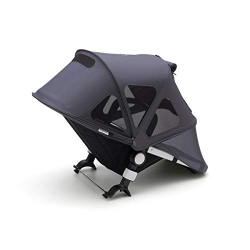 Extendable Sun Canopy with UPF Sun Protection and Mesh Ventilation Panels Birds Print Bugaboo Fox And Cameleon3 Breezy Sun Canopy