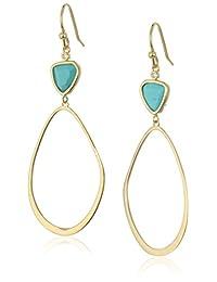Tai Turquoise Gold Drop Earrings