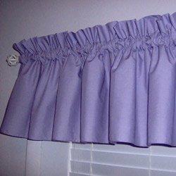 Solid Color Window Valance - Color: Lavender by BabyDoll Bedding