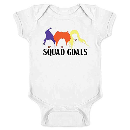 Pop Threads Squad Goals Witches Halloween Costume White 18M Infant Bodysuit -