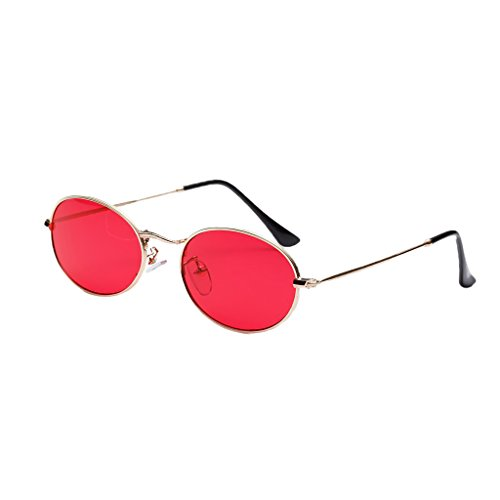 Unisex de mm Dolity Accesorios Hombre Rojo Mujer Espejo Gafas Metal Vintage 50 blanca Astilla Plano UV400 Aqxgw