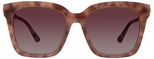 DIFF Eyewear - Bella - Designer Square Sunglasses for Men & Women - 100% UVA/UVB [Polarized] (Plum + Wine)