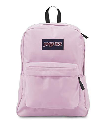 JanSport Superbreak Backpack - Lightweight School Pack, Pink Mist