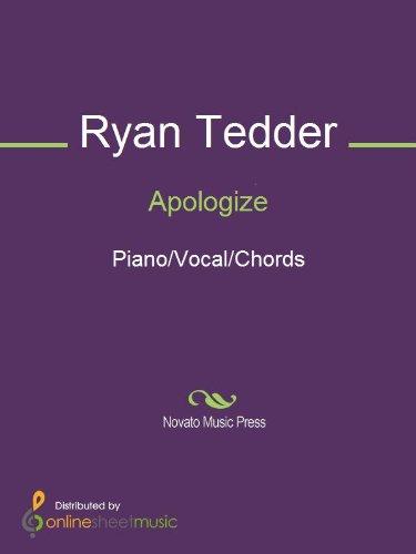 Apologize Kindle Edition By Onerepublic Ryan Tedder Timbaland