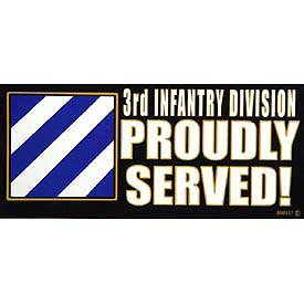 US Military Armed Forces Bumper Sticker - US Army - 3rd Infantry Division