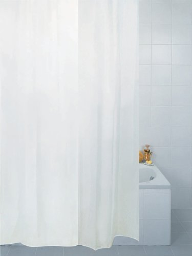 Beautiful extra long and wide fabric shower curtain, rings included ...