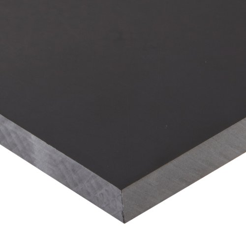 Polycarbonate (PC) Sheet, Impact Resistant, Opaque  Black, Standard Tolerance, ASTM D3935, 1/2
