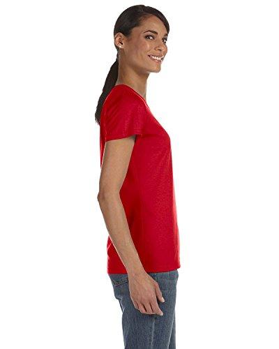 Fruit of the Loom sudadera con capucha para mujer HDTM T-camiseta de manga corta para algodón resistente rojo (True Red)