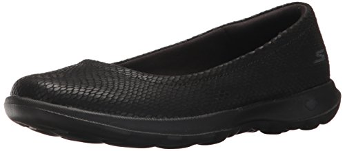 Go Walk Skechers Women's Lite Flat Ballet Black 5vOp6nO8