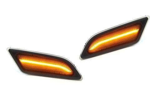 iJDMTOY Smoked Lens Amber Full LED Front Side Marker