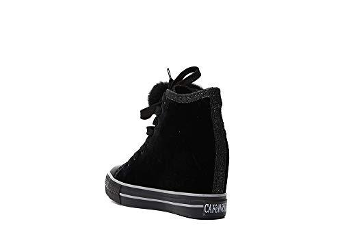 Cafènoir Lacci Mid Interna Donna Zeppa Dg923 Nero Scarpe Sneakers xnwp8qvCxr