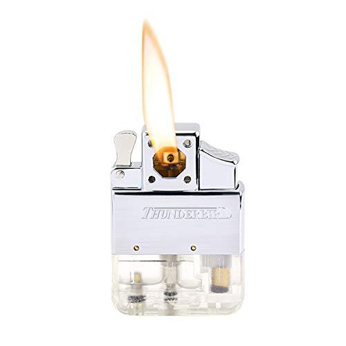 Vector Lighter Electric - Regular Piezo Flame - Wind Resistant Refillable Butane Inserts - - Lighter Butane Piezo