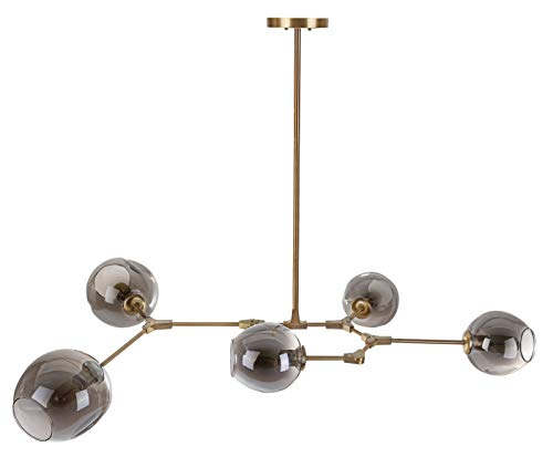 Safavieh PND4018A Collection Corbett Pendant Light, Grey