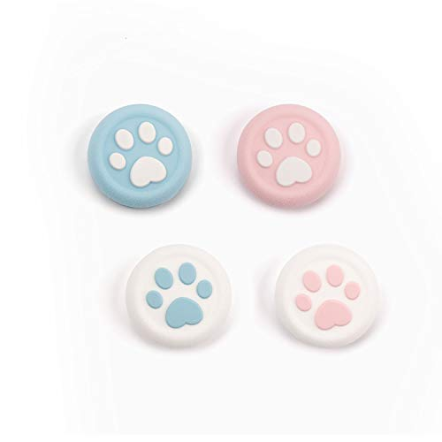 Geekshare 4Pcs Switch Paw Thumb Grip Set JoystickCaps for Switch Pro PS4 Controller Game AccessoriesThumbstick Button