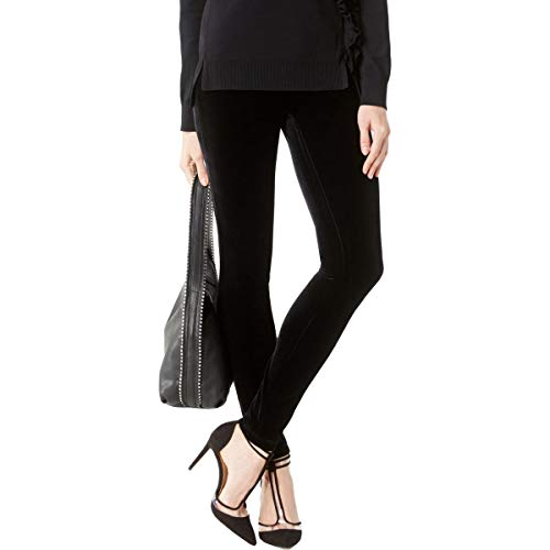 (INC Womens Velvet Dressy Skinny Pants Black 14)