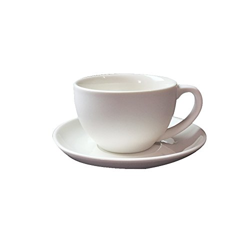 JAYYANG Jumbo Ceramic Soup/Coffee/ Mocha/Latte Cup / Ceramic Hot Beverage Drinkware Cups with Coasters for Wife mom sister girl friend XHB-white