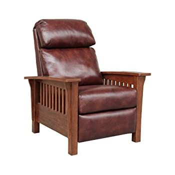 Surprising Barcalounger Mission 7 3323 Craftsman All Leather Push Back Manual Recliner Chair 5702 87 Wenlock Fudge All Leather Unemploymentrelief Wooden Chair Designs For Living Room Unemploymentrelieforg