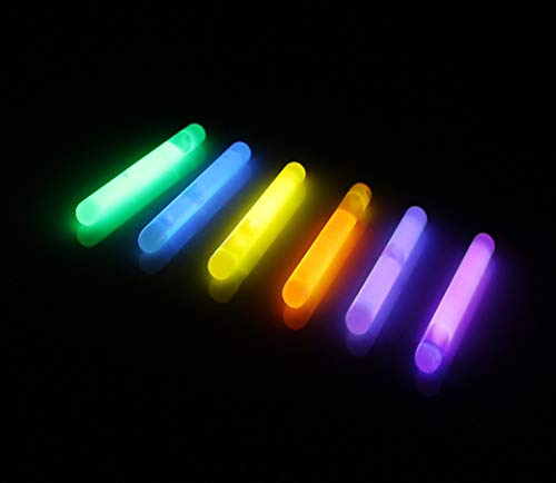 JOYIN 200 Pcs Mini Glow Sticks Bulk with 8 Colors for Glow Easter Egg, Kids Glow-in-The-Dark, Easter Basket Stuffers, Easter, Christmas Halloween Party Supplies, 4th of July, Independent Day
