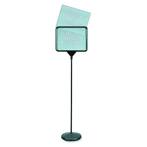 Quartet 3655 Sign(ware) Pedestal Sign, 1 Blank & 12 Preprinted 14w x 11h Signs, 52