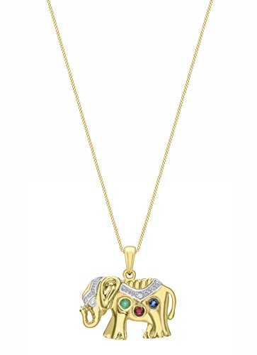 Carissima Gold - 1.42.6054 - Collier Femme - Or jaune (9 cts) 2.2 Gr - Pierre Mutlicolores