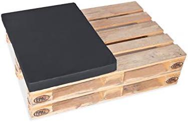 TexDeko Palettenkissen, Palettenpolster 60x80cm für halbe Europalette In & Outdoor (60x80x12cm, Anthrazit)