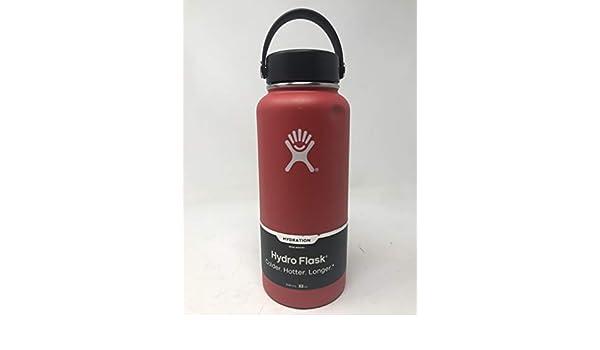 Hydro Flask - botella de agua acero inoxidable boca ancha aislado vacío con Flex Cap Lava - 32 oz.
