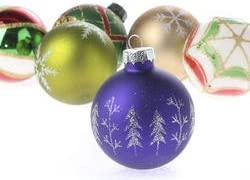 Factory Direct Craft Set of 12 Assorted Designs Glass Ball Christmas Ornaments