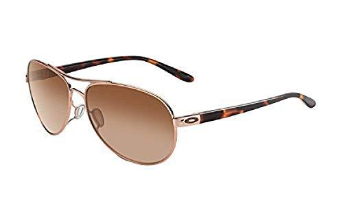 Oakley Feedback Sunglasses Rose Gold / VR50 Brown Gradient & Cleaning Kit Bundle ()