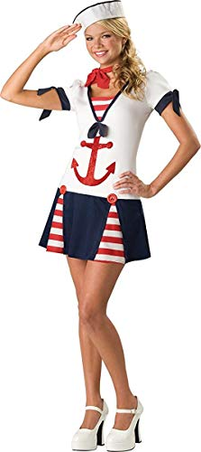 Sassy Sailor Teen/Junior Costume - Teen Medium (Jane White Adult Shoes)