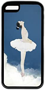 Beautiful Ballet Dancer Theme Case for IPhone 5C PC Material Black