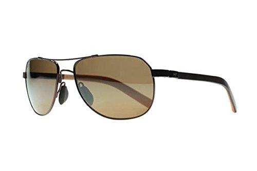 Maui Jim Guardrails H327-23 | Polarized Metallic Gloss Copper Aviator Frame Sunglasses, HCL Bronze Lenses with Patented PolarizedPlus2 Lens Technology (Mj Sport Maui Jim)
