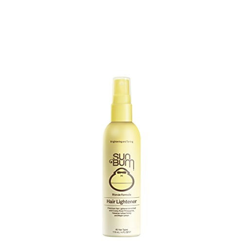 Sun Bum Blonde Formula Hair Lightener, 4 oz Spray Bottle, 1 Count, Hair Highlighting Spray, Paraben Free, PABA Free, Gluten Free (Best Hair Dye To Go Lighter)