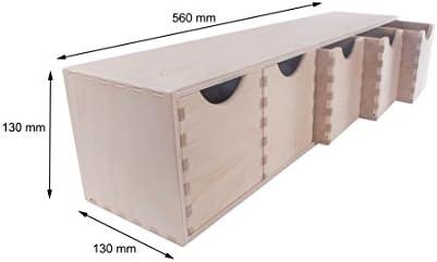 SEARCH BOX Caja DE Madera Horizontal 5 CAJONES Caja DE ...