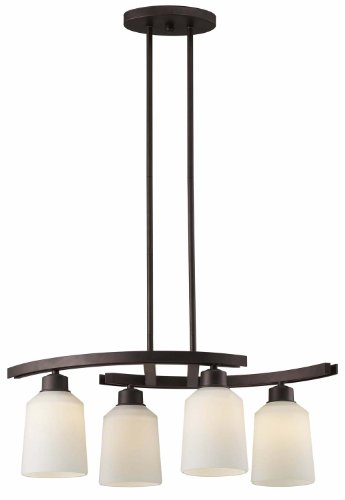 Canarm ICH431A04ORB Quincy 4-Light Chandelier, Oil Rubbed Bronze