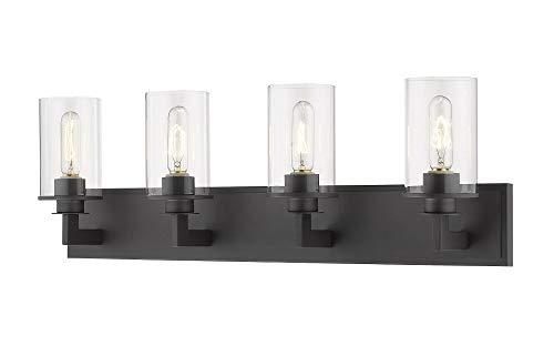 (Z-Lite 462-4V-BRZ 4 Light Vanity, Bronze )