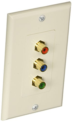 Monoprice 3 RCA Component Two-Piece Inset Wall Plate  - Coup