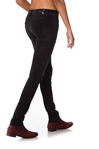 Japs Kaporal Femme Jean Slim Noir SXxvqzZP