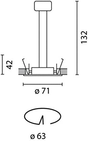 iGuzzini 8090.015 Mini Laser Faretto Incasso Tondo 35W grigio GU10 Alogena LED