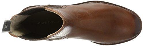 Marc O'Polo Women's Flat Heel 70814235001108 Chelsea Boots Braun (Brandy) HwDmupr6X