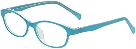 Outray Kinderbrille mit ovalem optischem Rahmen, für Mädchen und Jungen, mit klaren Gläsern