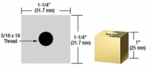 - C.R. LAURENCE SQ1251BR CRL Brass 1-1/4