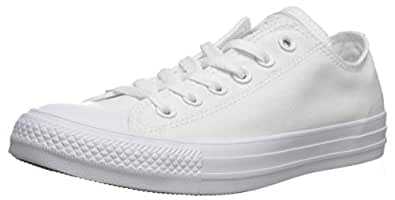 Converse Unisex Chuck Taylor All Star Ox Low Top Classic White Monochrome Sneakers - 5 B(M) US Women / 3 D(M) US Men