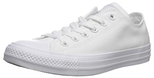 Converse Unisex Chuck Taylor All Star Ox Low Top Classic WHITE/WHITE (CANVAS) Sneakers - Men 3.5 / Women 5.5