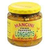 Mancini - Fried HOT Peppers [LongHots], (3)- 7 oz. Jars
