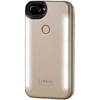 LuMee Duo for iPhone 8 Plus/7 Plus/6s Plus/6 Plus, The Original and AuthenticPatentProtected Selfie Case - Gold Matte