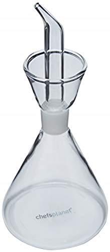 Chef's Planet Large Glass Cruet 8-ounce (8 Oz Olive Oil Cruet)
